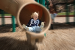 Unnamed kid on slide action