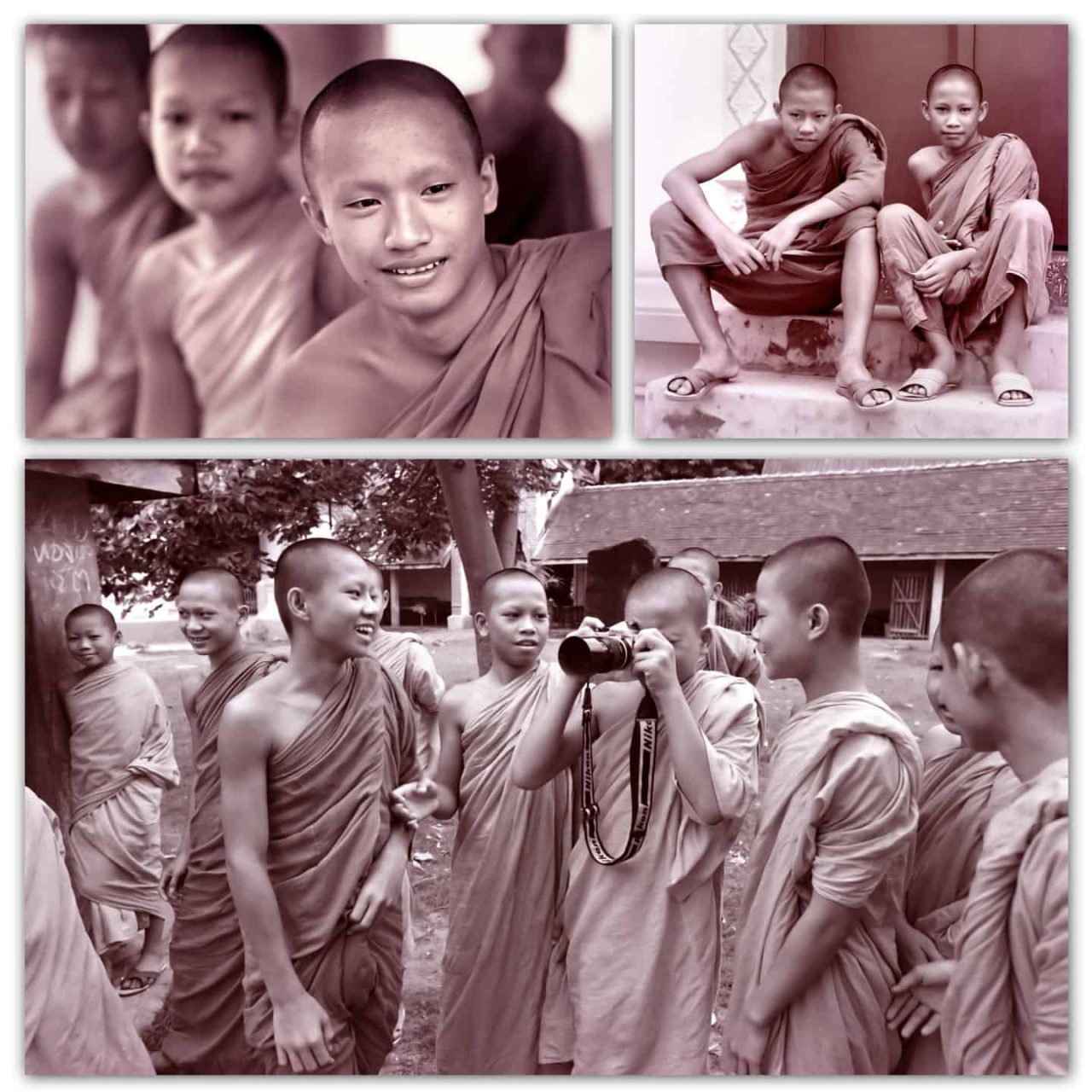 Monks in Thailand 1978