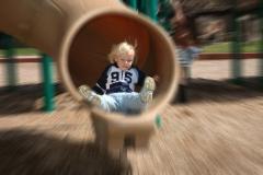 Unnamed kid on slide action