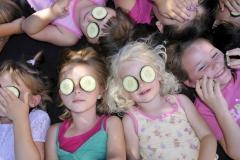 Girls with cucumber eyes